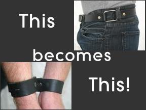 Belt that converts to a wrist restraint