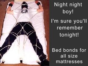Bed bondage rack