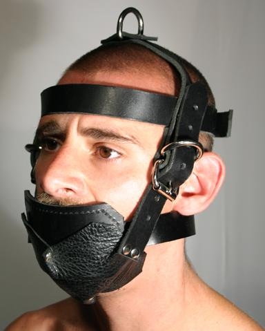 Jaw locking bondage harness