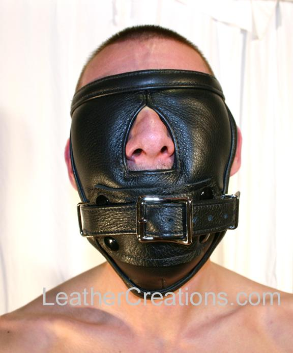 Padded full face blindfold and gag