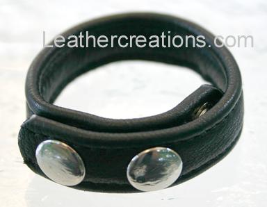 Garment leather cock ring