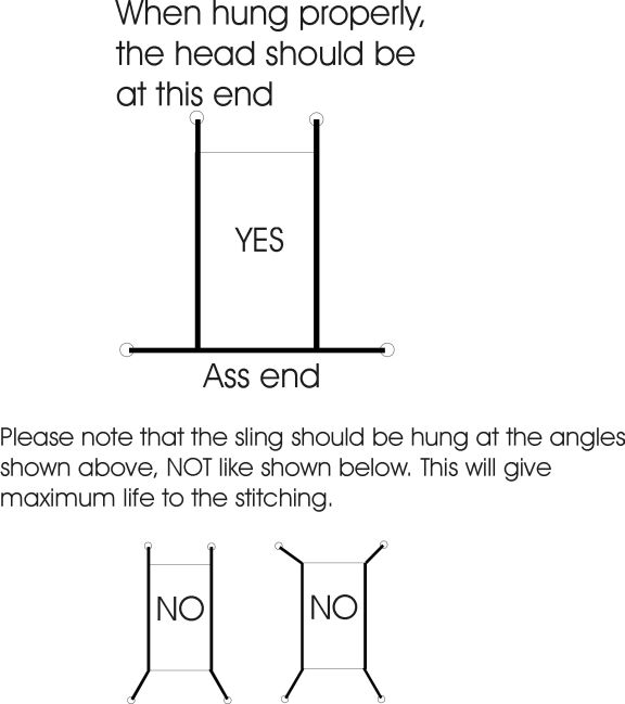 Canvas and nylon sling hanging instructions