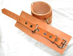 Natural Leather Wrist Restraints